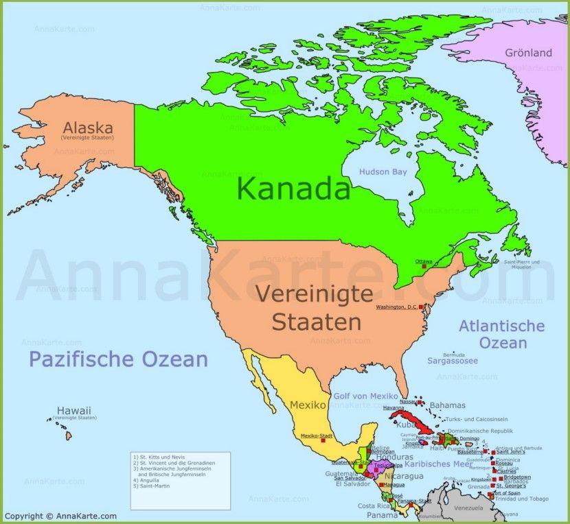 Pin Von Gp Auf World Amerika Karte Nordamerika Und Golf Von Mexiko