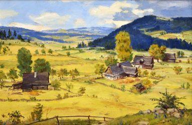 Martin Benka (1888 - 1971), Moravský motív, olej na plátne