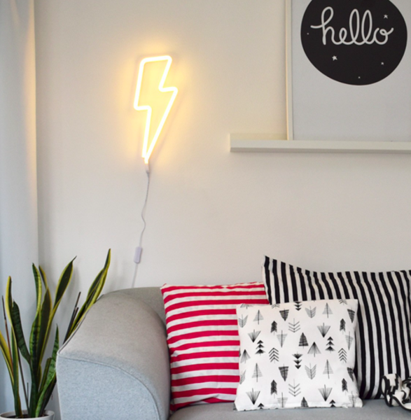 Lightning Bolt Neon Style Light By A Little Lovely Company