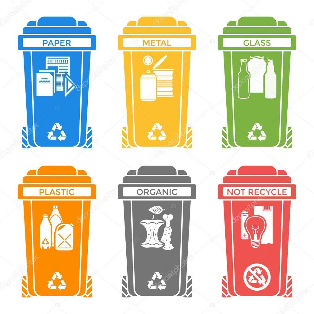 39+ Cubos de basura colores trends