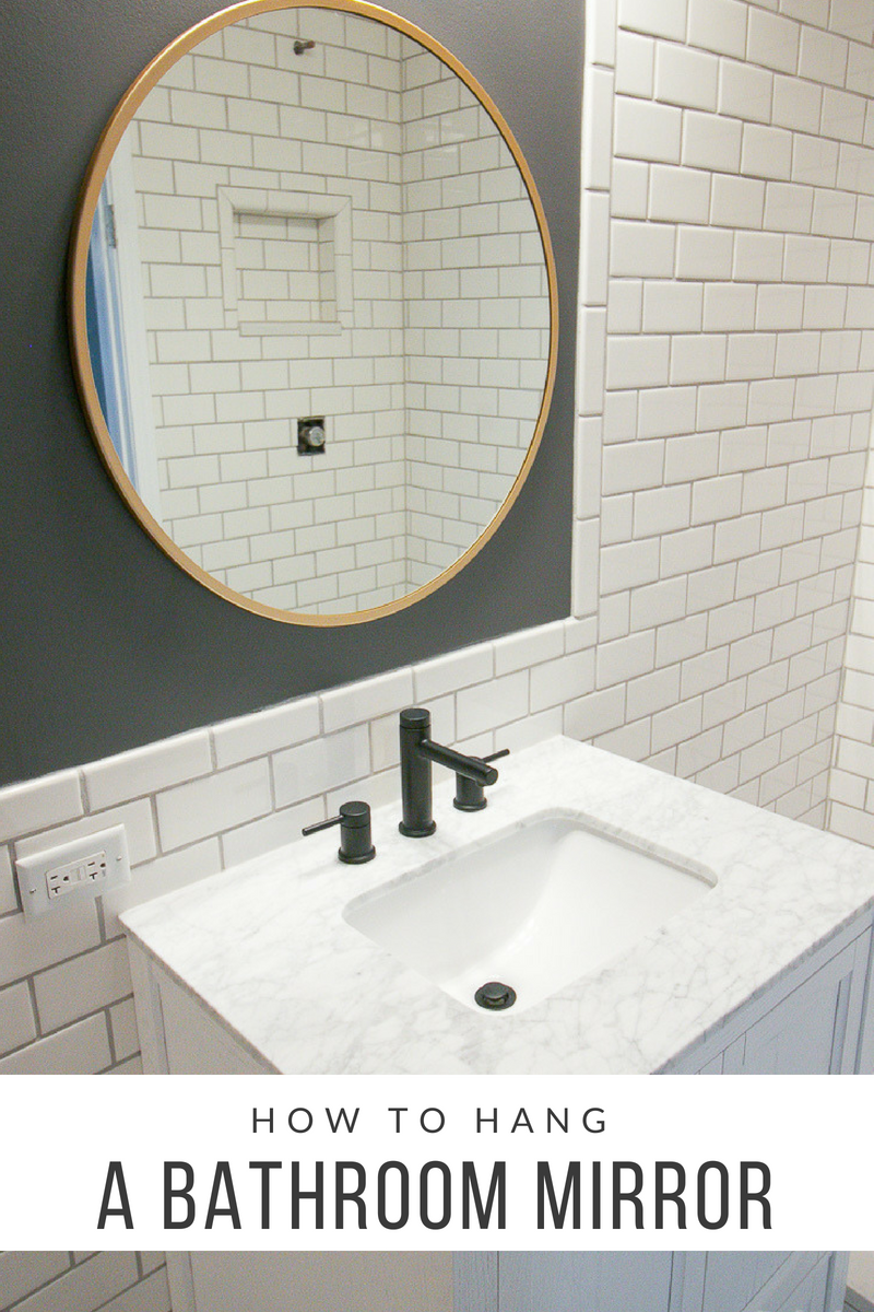 How To Hang A Bathroom Mirror With Images Round Mirror