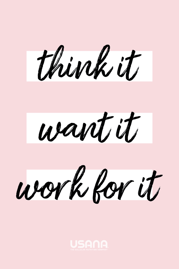 Think it. Want it. Work for it. - Motivation Self love quotes, self care, mental health quotes, wome...