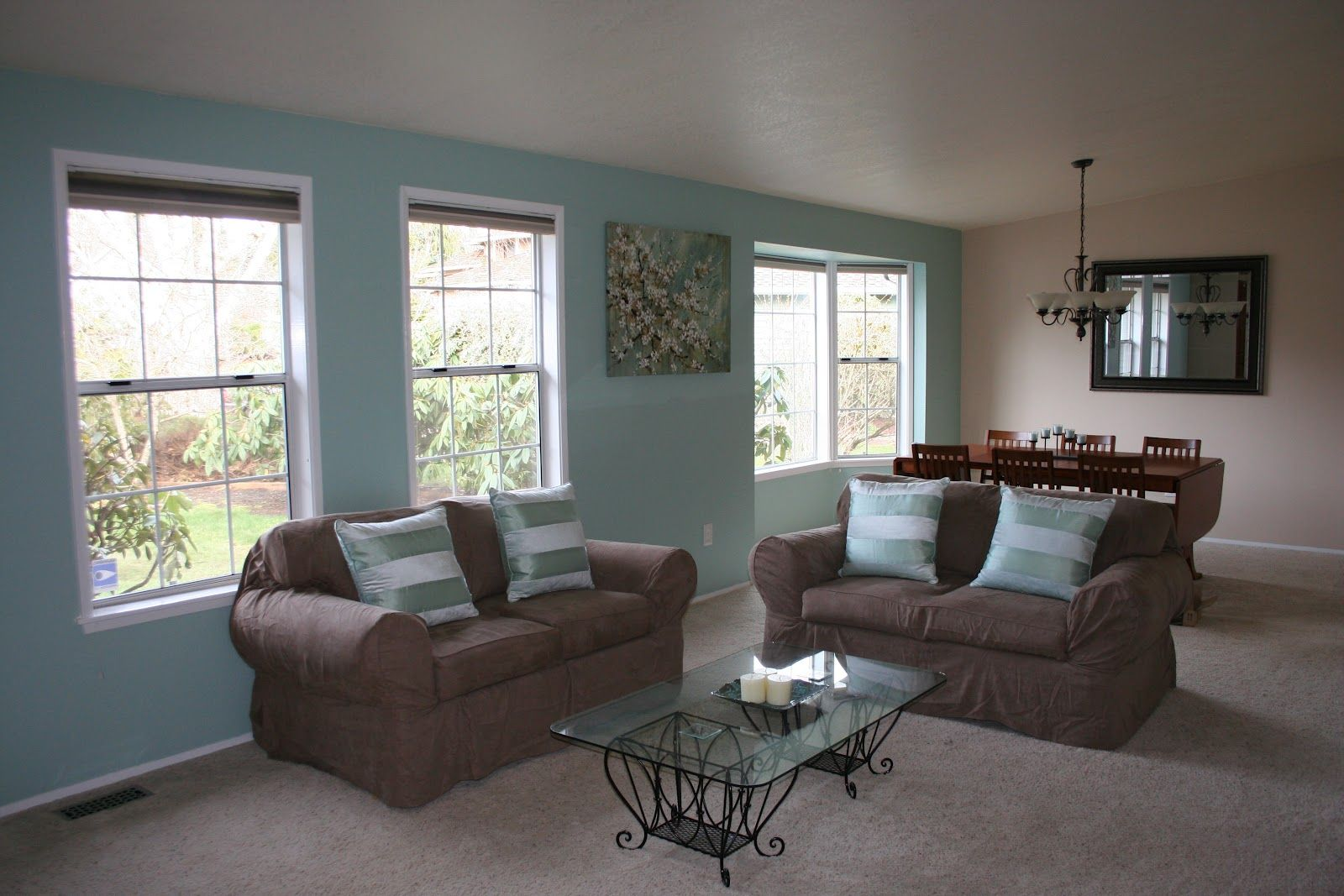 Light Brown And Seafoam Green Living Room Google Search Light