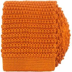 Amanda Christensen Cravate en Soie Tricotée 6 cm Orange Amanda ChristensenAmanda Christensen   – Products