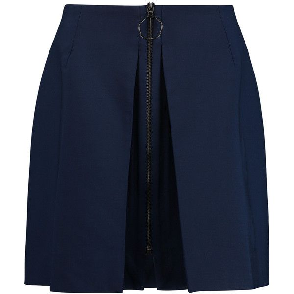 Mother of Pearl Thea wool-blend crepe mini skirt (3.196.850 VND)