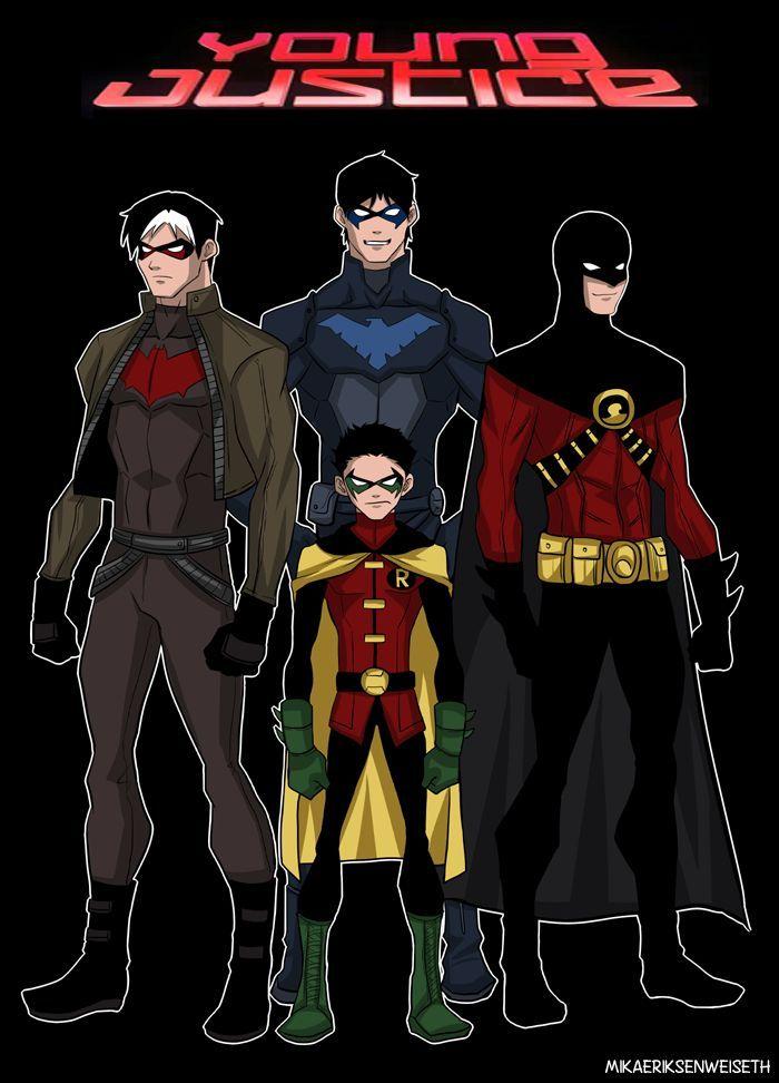 todos os robins em batman geek pinterest young