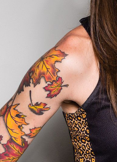 Autumn Leaves Tattoo Fall Leaves Tattoo Autumn Tattoo Tattoos