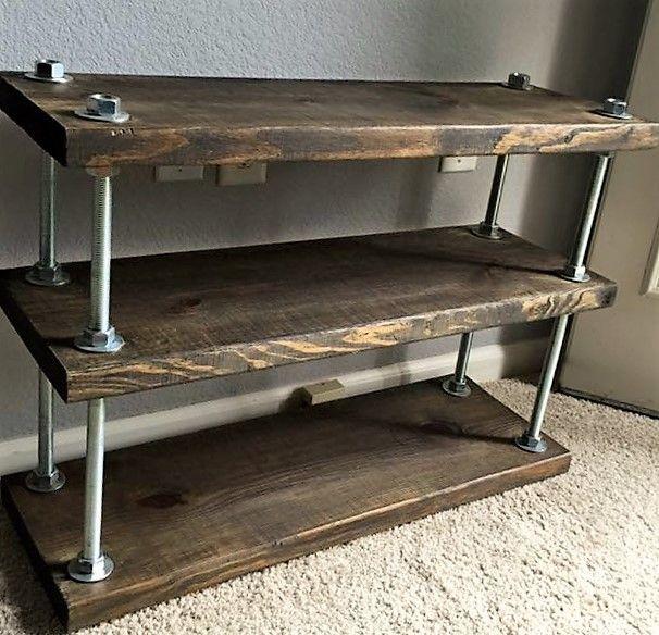 Custom Made Industrial Rustic Barnwood Shelving Unit Rustic Shelving Unit Bookshelves Diy Vintage Industrial Furniture