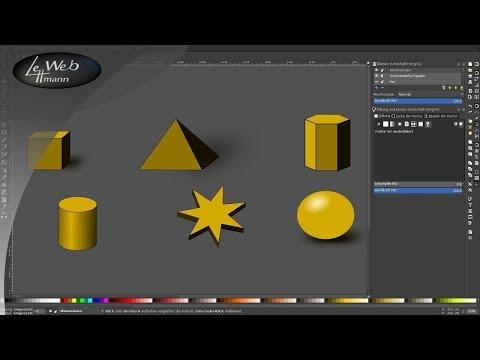 59 3d objekte mit inkscape erstellen vektorgrafik tutorial youtube kostenlos wolke vektor palme
