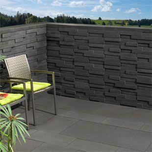 Basalo Schichtmauer Gartengestaltung Moderner Garten Mauer