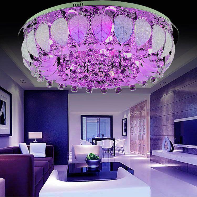 Home Decor Chandelier Led Light Elegant K9 Crystal Lamp Ceiling