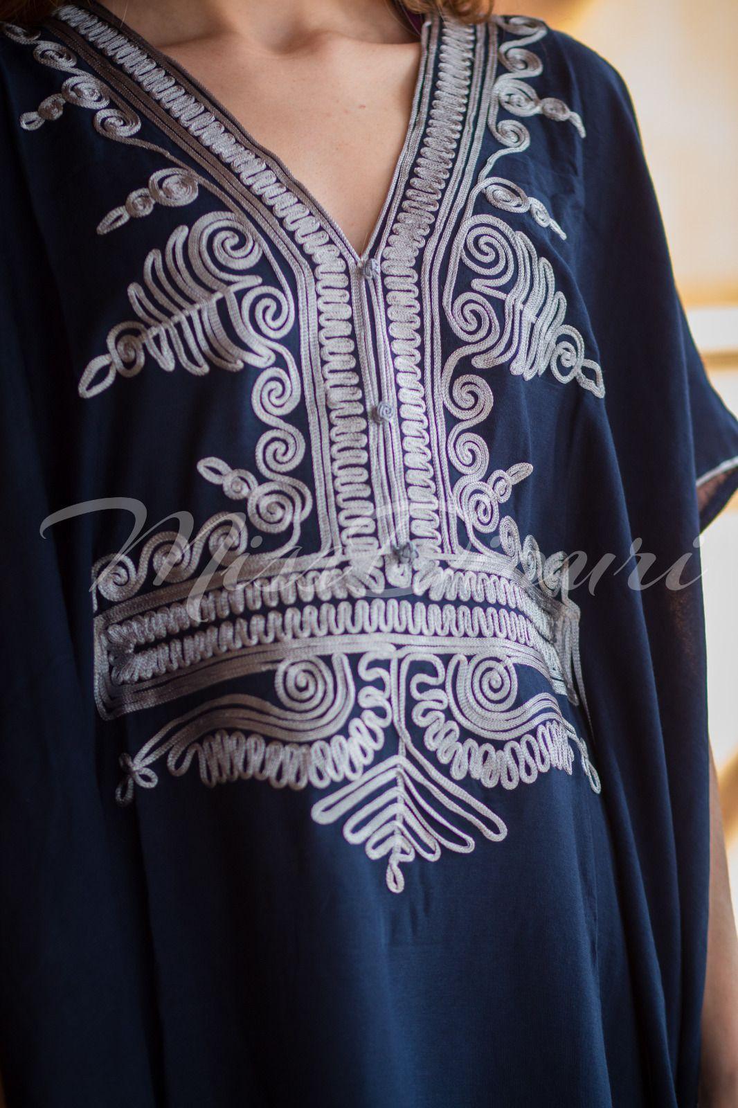 SALE !!! Moroccan kaftan Embroidery Batwing Maxi Dress Dubai Sexy Abaya one  size  32.99 891909700d8