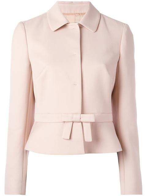 Shop Red Valentino bow detail cropped jacket.