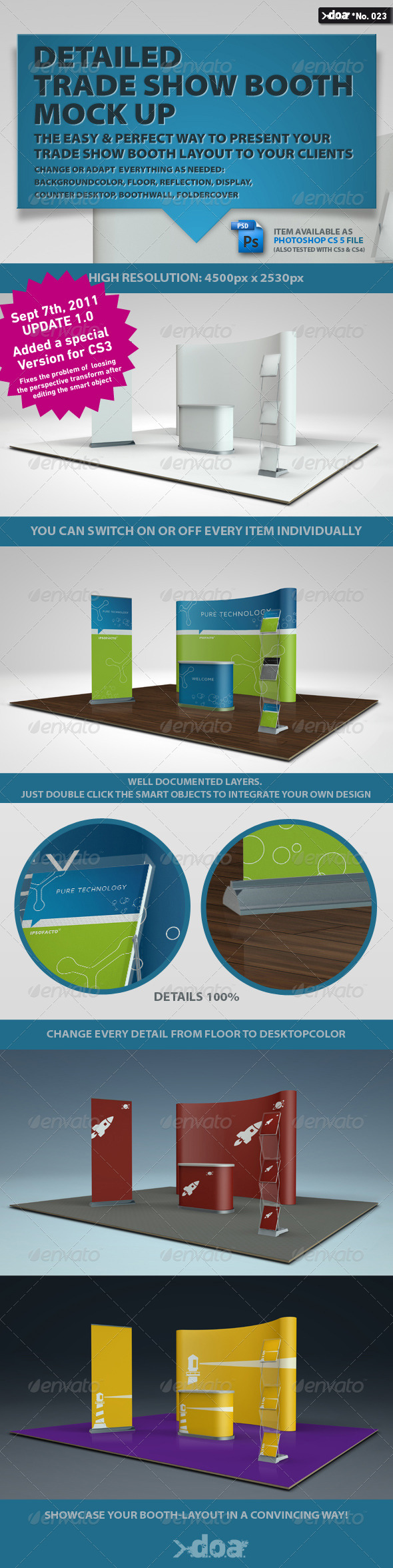 Exhibition Booth Psd : Free trade show booth display stand mock up psd css author