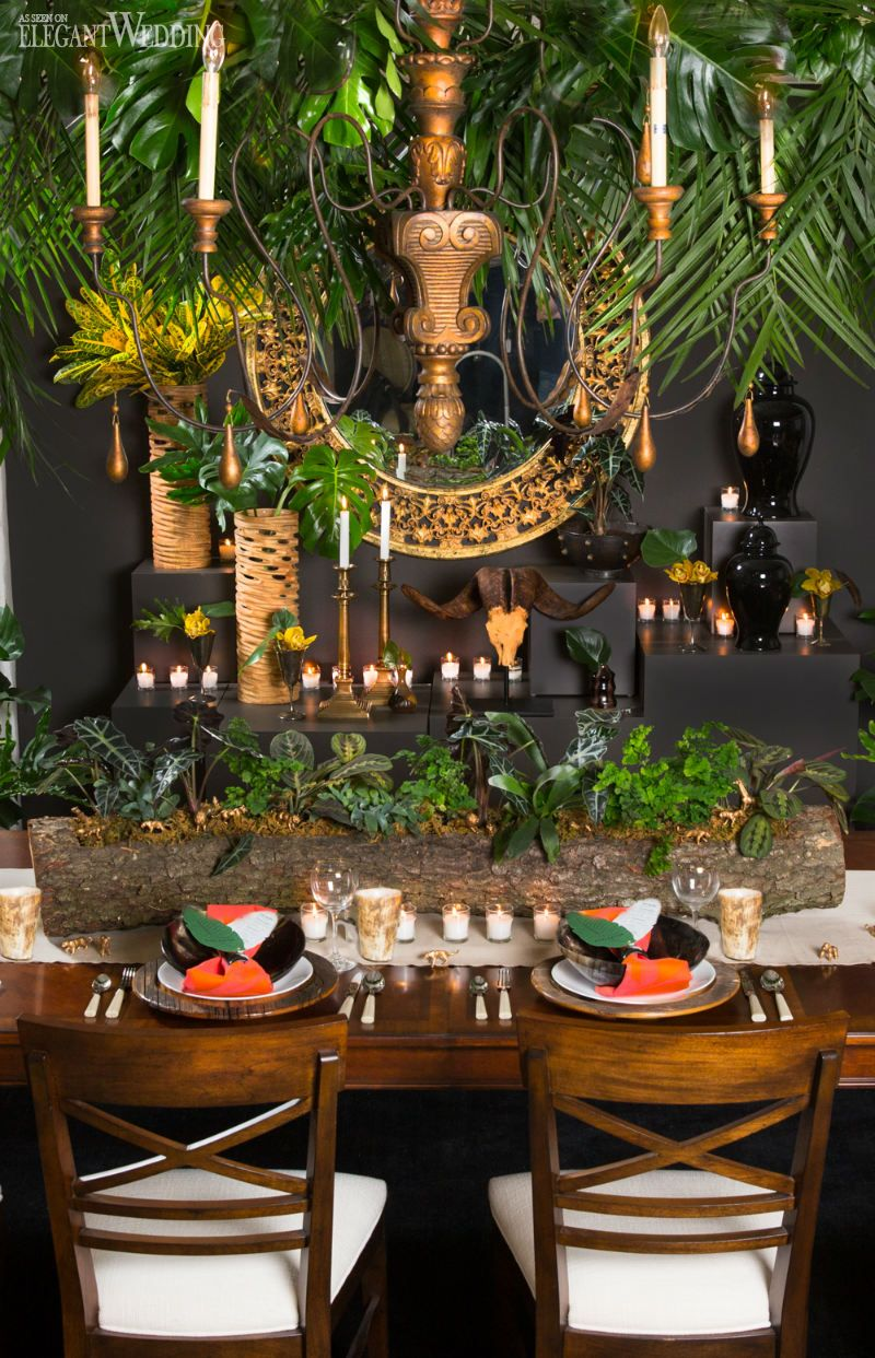 wedding ideas south africa tropical table setting for an inspired wedding 27967