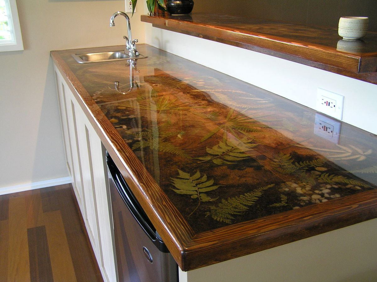Custom resin countertop pinteres for Diy outdoor bar top
