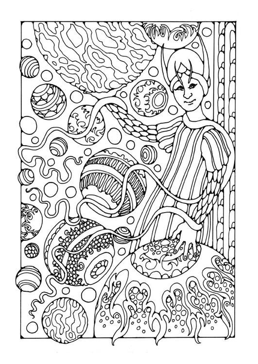 coloring pages magician - photo#35