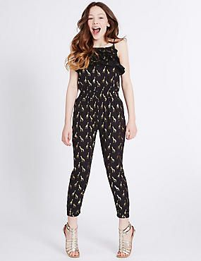 3a0a9f0093d3 Animal Print Jumpsuit (3-14 Years)