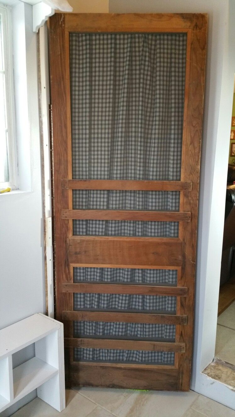 This Antique Screen Door Hides A Small Broom Closet With Images