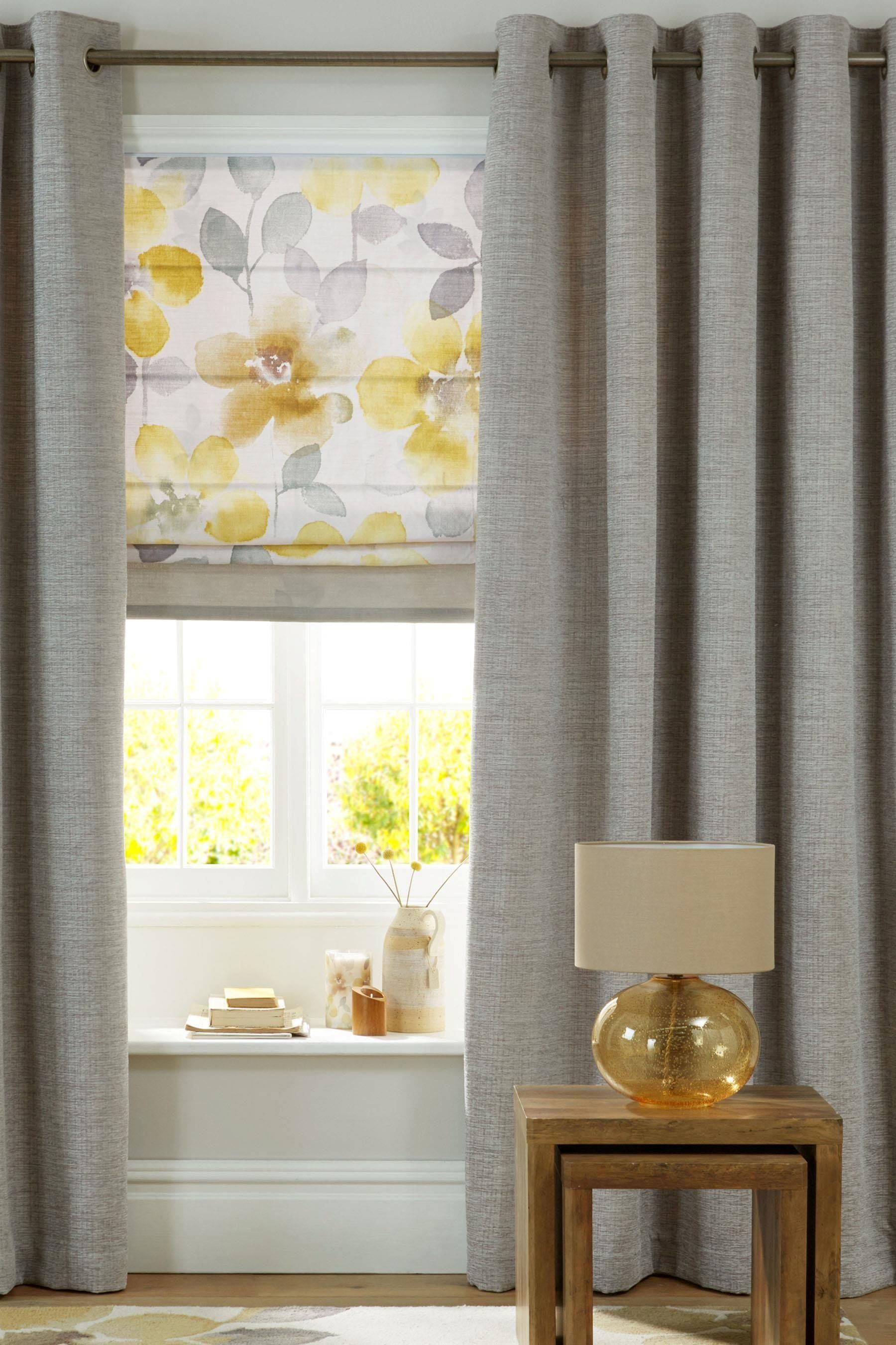 Buy Stone Textured Chenille Eyelet Curtains From The Next UK Online Shop