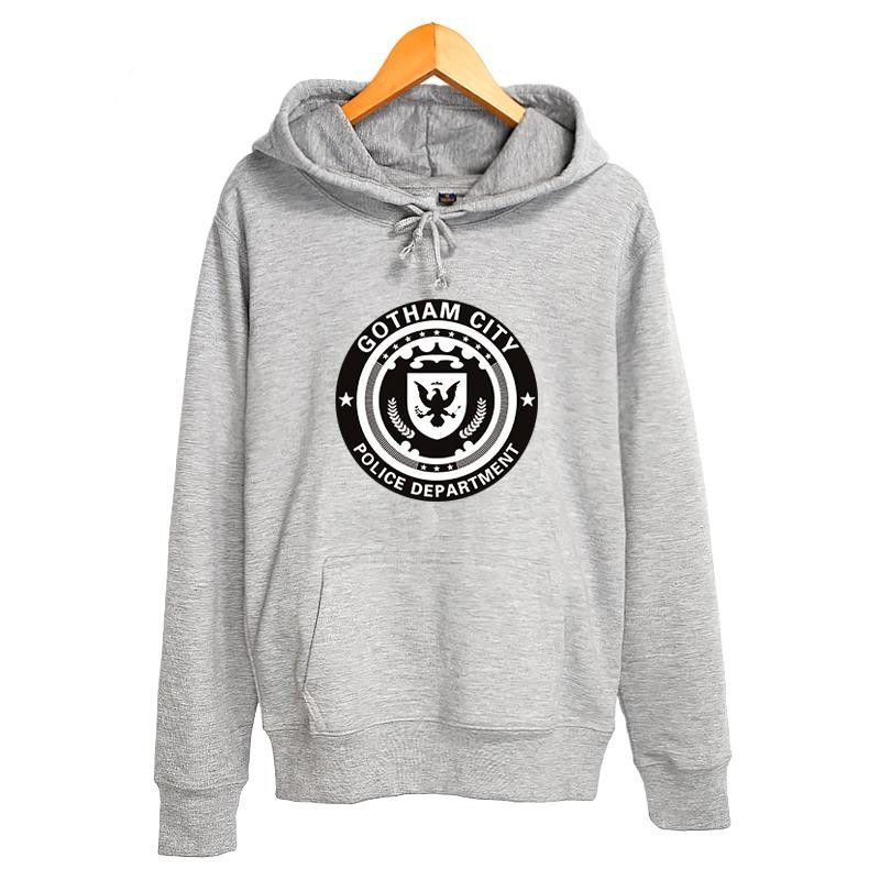 Gotham city logo police department pullover hoodies ropa
