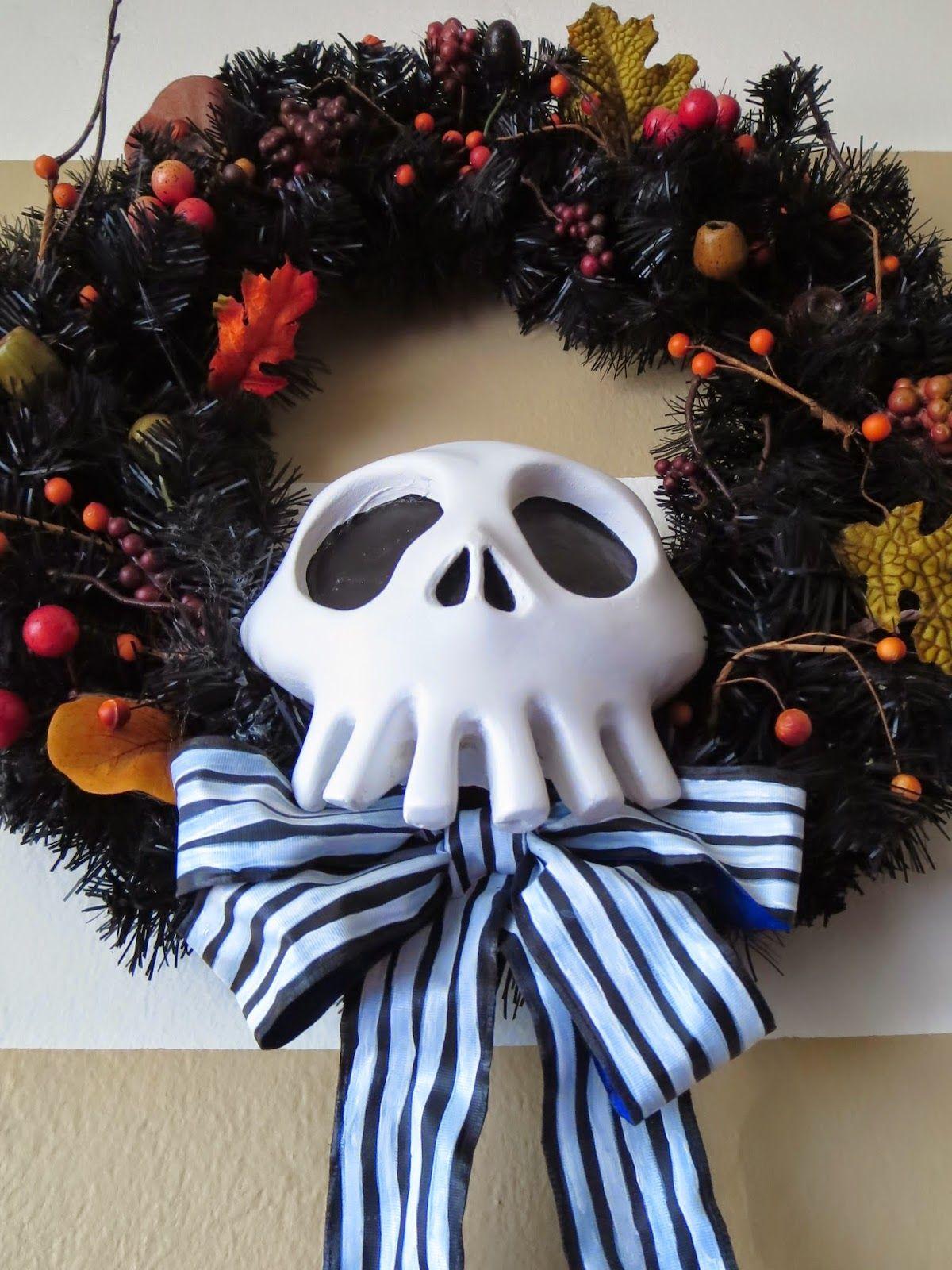DIY Nightmare Before Christmas Halloween Props: DIY Black & White ...