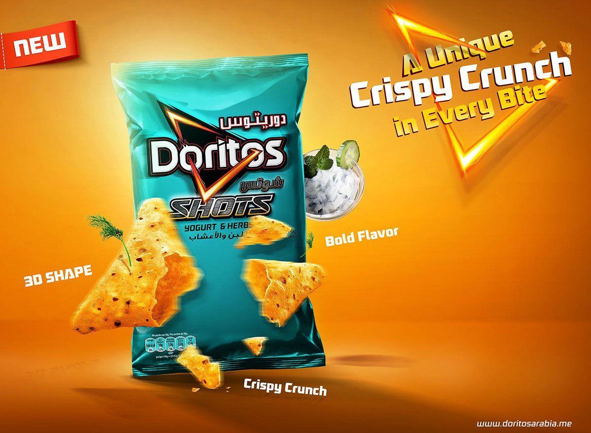 Doritos shoots on behance food poster design creative