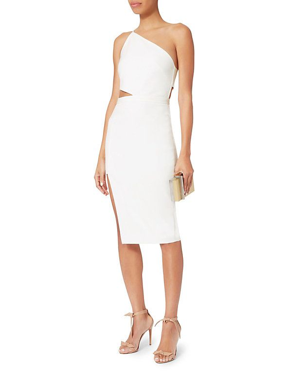 dfcdf989a52d Michelle Mason Asymmetric Cut Out Dress