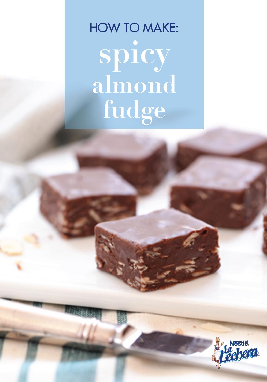 With Delicious Layers Of Chocolate La Lechera Sweetened Condensed Milk Almonds And Chili Powder Flavor Your F Fudge Recipes Spicy Almonds Sees Fudge Recipe