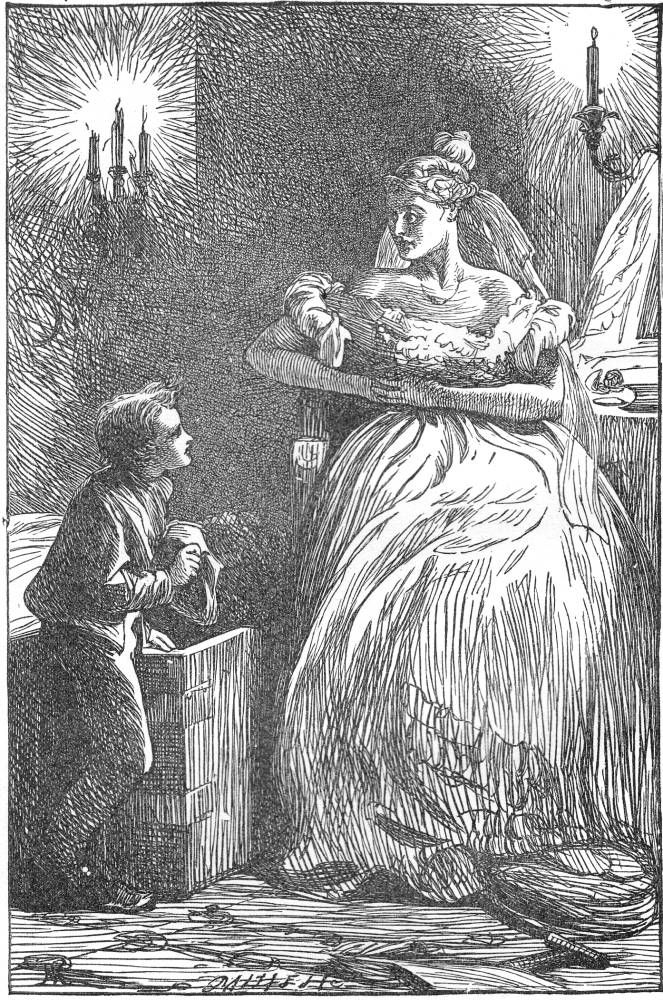 Great Expectations Illustrations  Pip Waits On Miss Havisham  A  Great Expectations Illustrations  Pip Waits On Miss Havisham