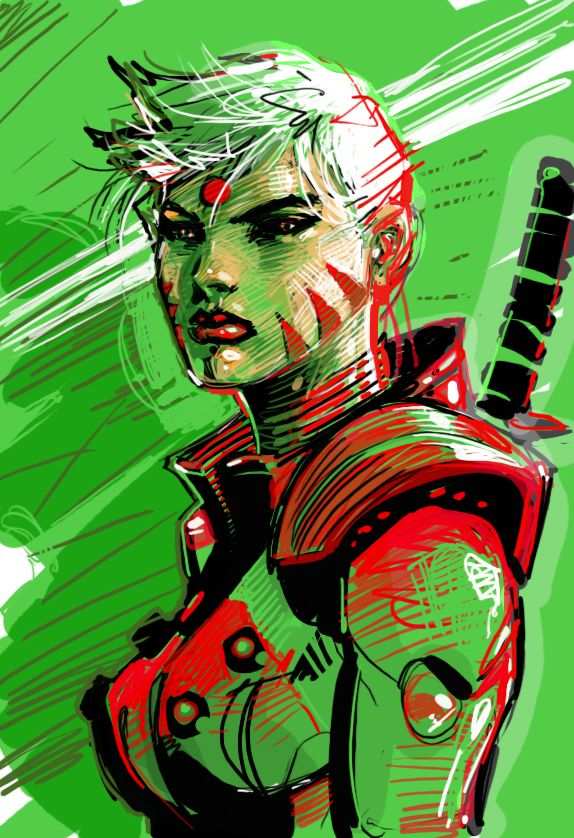 Zealot Photoshop Color Rough By Jimlee00 On Deviantart Jim Lee Art Comic Book Girl Comics Artwork
