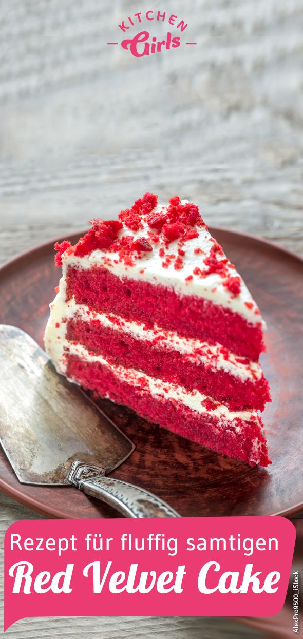 Rezept für fluffig samtigen Red Velvet Cake #cheesecakecupcakes