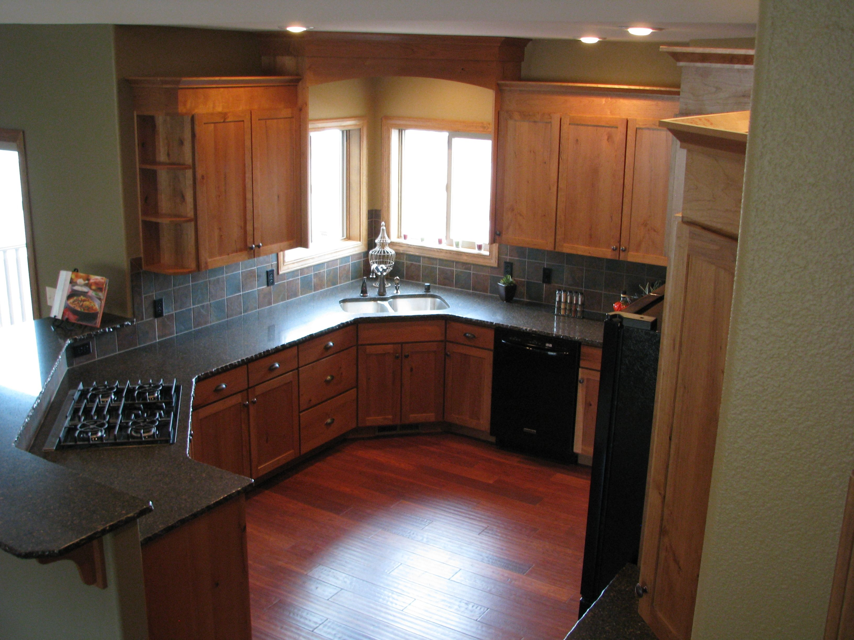 Crown Cabinets Clearcreek Knotty Cherry Natural Crown Cabinets Kitchen Kitchen Cabinets