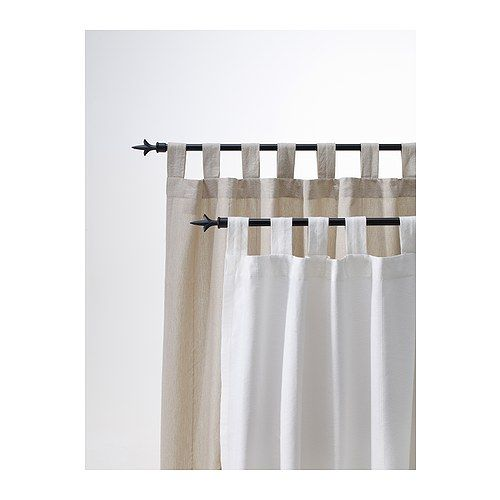 Lenda Curtains With Tie Backs 1 Pair Light Beige Ikea Just Might Try These In At 19 99 Why Not