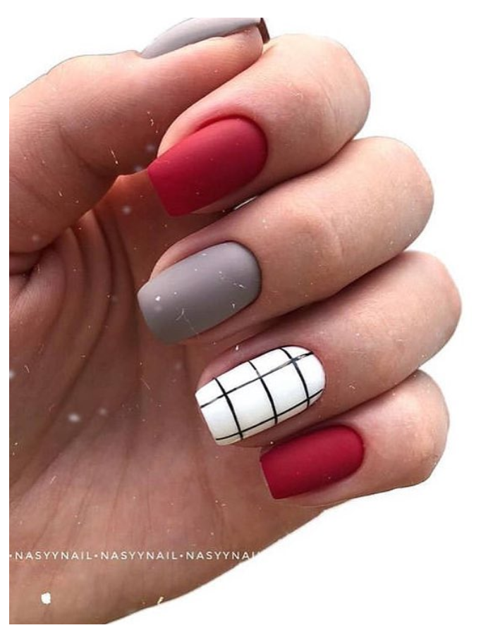 short square nails summer colors