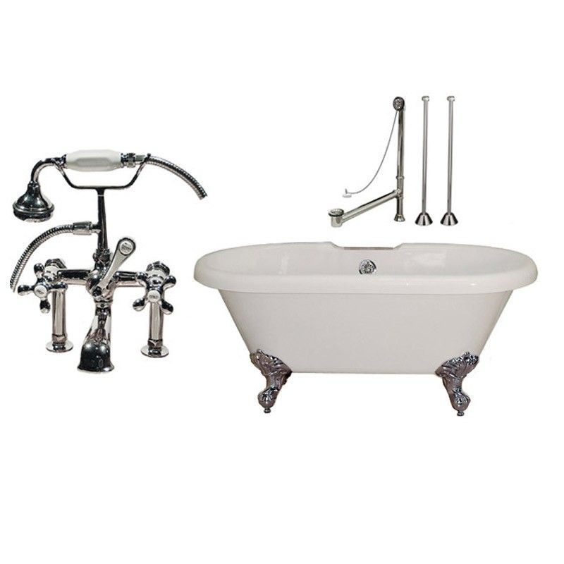 acrylic clawfoot tub package. Randolph Morris 66 Inch Acrylic Clawfoot Tub Package With Fixtures  1198 95
