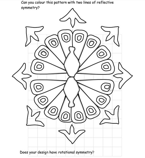 Rangoli Peacock An Activity Based On Rangoli Patterns To Provide