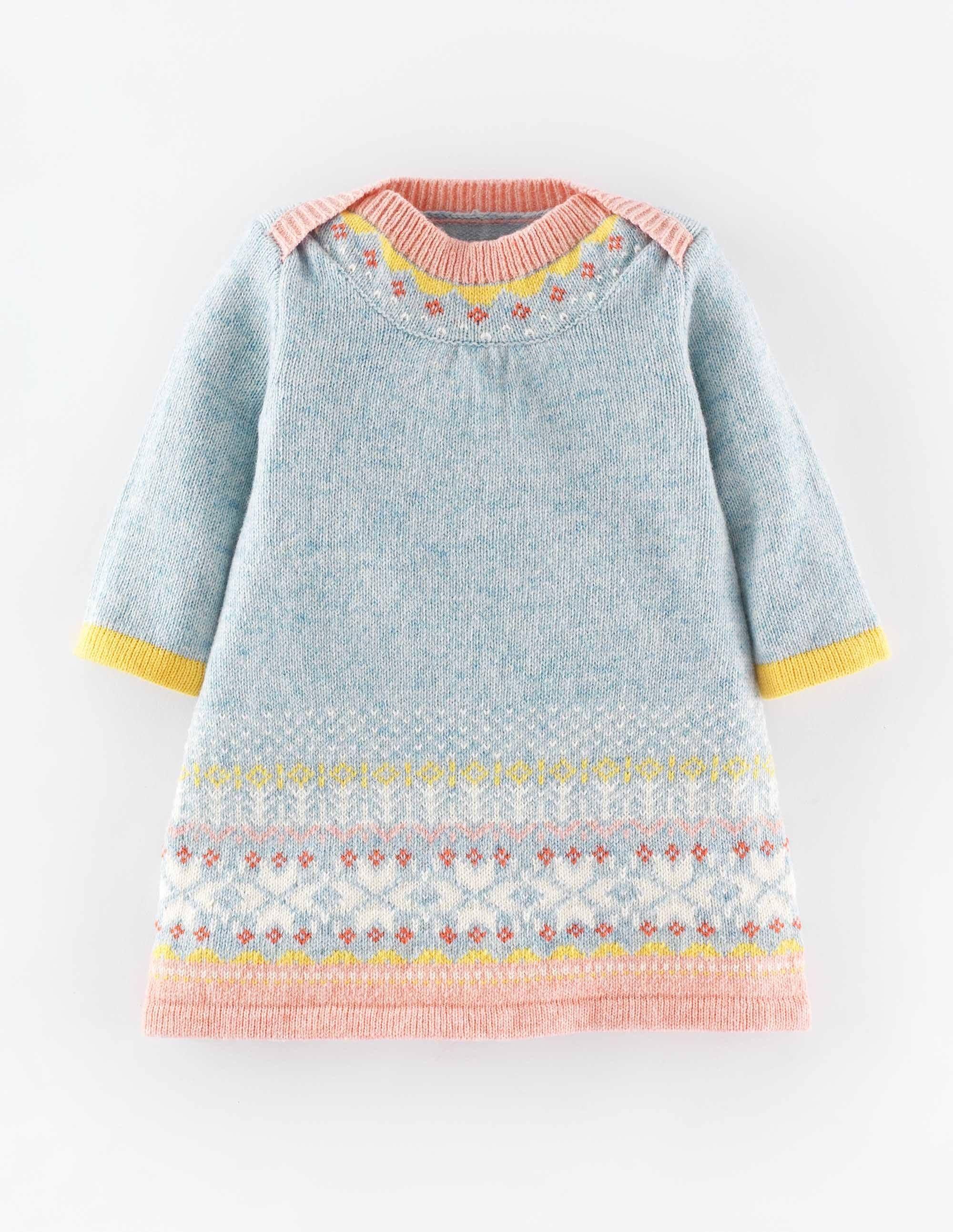 Fair-Isle-Strickkleid | Babykleidung | Pinterest | Stricken, Strick ...