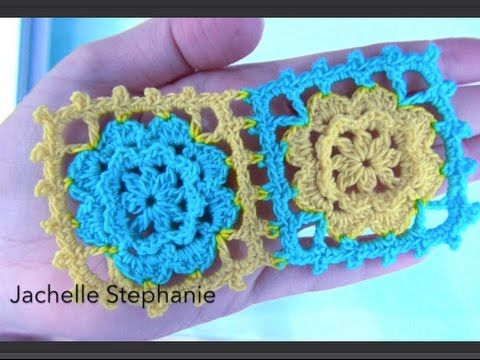 How To crochet Granny Square And How To Join As You Go Tutorial ...