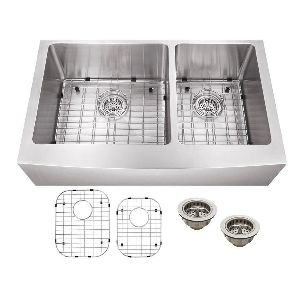 30+ Double basin stainless steel farmhouse sink most popular