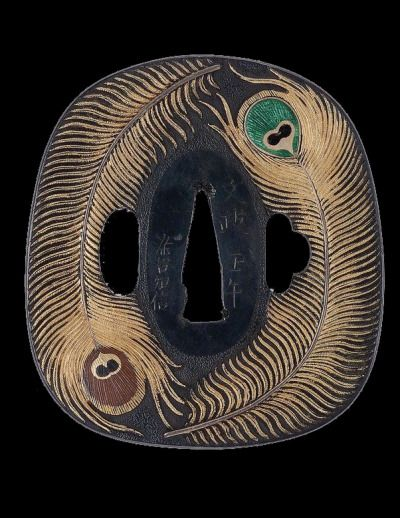japaneseaesthetics:  Tsuba (sword handle guard).  1822, Japan, by artist Someya Tomonobu.                 William Sturgis Bigelow Collection, MFA