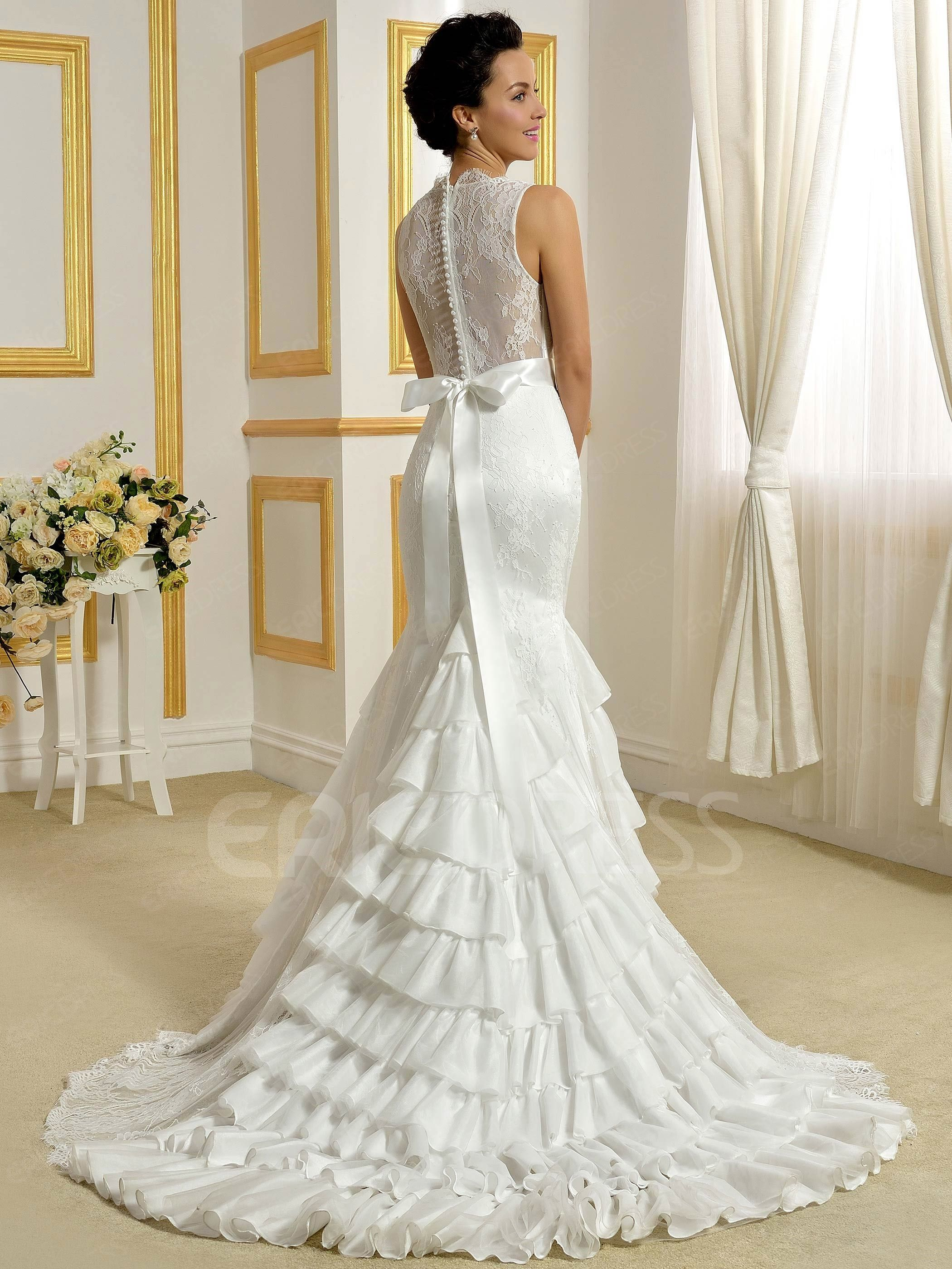 Ericdress fancy lace mermaid wedding dress 2 wedding