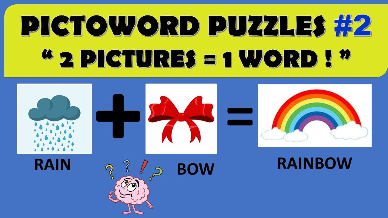 Pictoword Puzzles 2 2 Pictures 1 Word Rockclimbers 2020 Fun Quizzes Puzzles Words