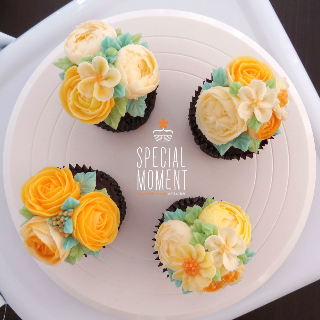 Choco Chocolate Flower Buttercream Cupcake For Mother In Law S