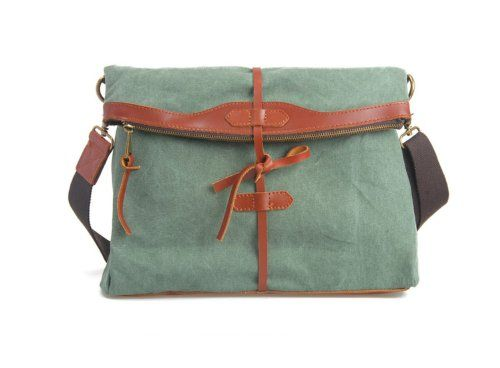 Whatland Cotton Canvas Genuine Leather Cross Body Shoulder Bag Messenger Bag (Green) Whatland,http://www.amazon.com/dp/B00ISAZXFG/ref=cm_sw_r_pi_dp_fXLEtb0F00FH8JJH