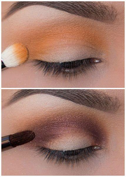 Maquillaje para pieles morenas ojos ahumados con amarillo