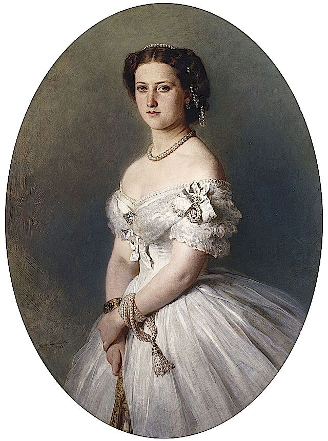 1865 Princesa Helena por Franz Winterhalter (Royal Collection)