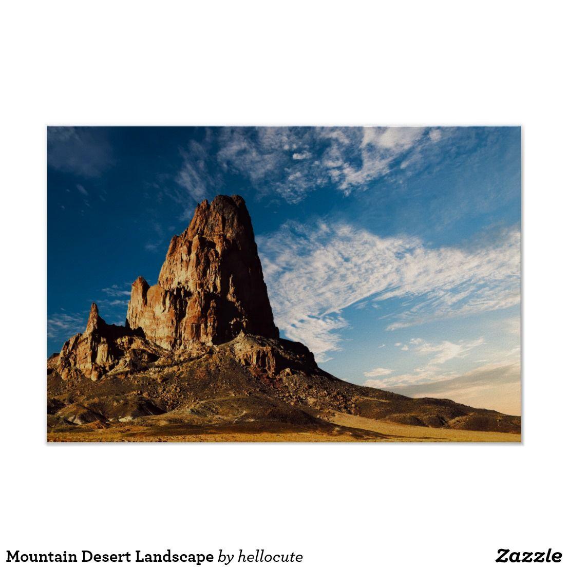Mountain Desert Landscape Poster Zazzle Com Landscape Poster Desert Landscaping Landscape