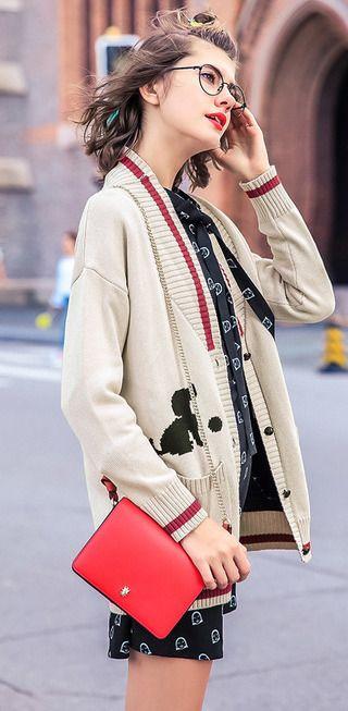 Sweater women winter long loose long thick semi-high-necked long sleeve cardigan sweater jacket