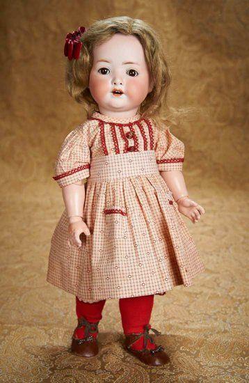 "Charming 18"" German Bisque Character, 320, Heubach Koppelsdorf, Costume, Toddler Body"